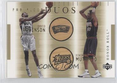 2001-02 Upper Deck Honor Roll - Fab Floor - Duos #DR/DM-F - David Robinson, Dikembe Mutombo