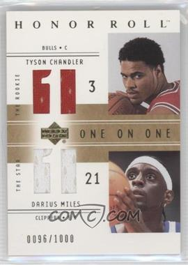 2001-02 Upper Deck Honor Roll #122 - Tyson Chandler, Darius Miles /1000