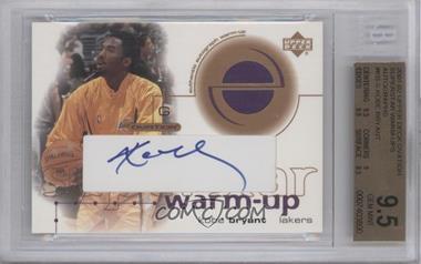 2001-02 Upper Deck Ovation - Superstar Warm-Up - Signed [Autographed] #KB-S - Kobe Bryant [BGS9.5]