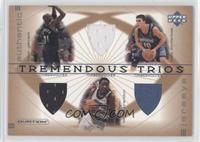 Kevin Garnett, Wally Szczerbiak, Terrell Brandon