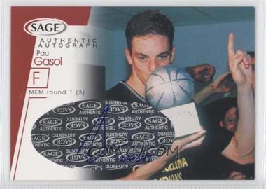 2001 Sage - Autographs - Red #A15 - Pau Gasol /399