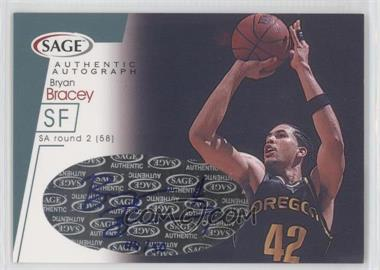 2001 Sage Autographs Platinum #A4 - Bryan Bracey /50