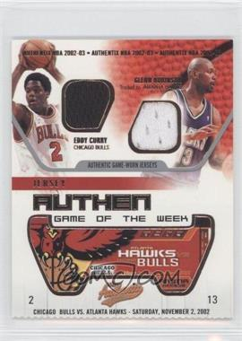 2002-03 Fleer Authentix - Jersey Authentix Game of the Week - Ripped #EC-GR RIPPED - Eddy Curry, Glenn Robinson