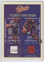 Ray Allen, Vince Carter, Stephon Marbury, Cuttino Mobley /200