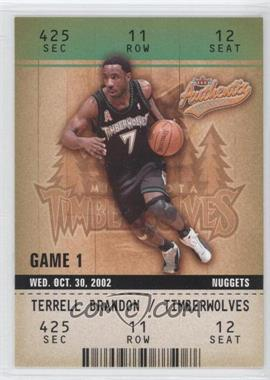 2002-03 Fleer Authentix #11 - Terrell Brandon