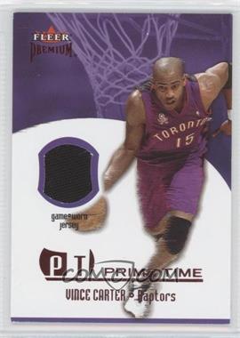 2002-03 Fleer Premium - Prime Time Game-Worn - Ruby #N/A - Vince Carter /100