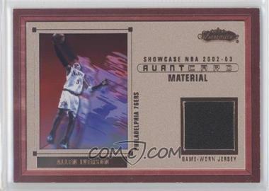 2002-03 Fleer Showcase Avant Card Material #N/A - Allen Iverson /202