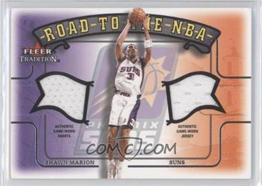 2002-03 Fleer Tradition - Road to the NBA - Dual Memorabilia #SHMA - Shawn Marion