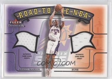 2002-03 Fleer Tradition Road to the NBA Dual Memorabilia #N/A - Shawn Marion
