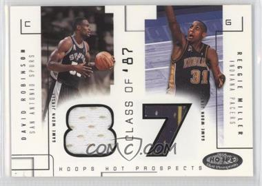 2002-03 Hoops Hot Prospects - Class Of Materials #N/A - David Robinson, Reggie Miller /375