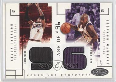 2002-03 Hoops Hot Prospects Class Of Materials #N/A - Allen Iverson, Stephon Marbury /375