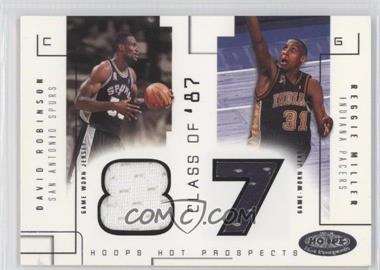 2002-03 Hoops Hot Prospects Class Of Materials #N/A - David Robinson, Reggie Miller /375