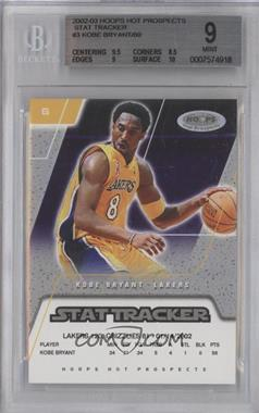 2002-03 Hoops Hot Prospects Stat Tracker #3 ST - Kobe Bryant /80 [BGS 9]