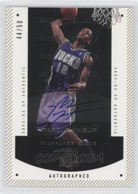 2002-03 SP Authentic - [Base] - SP Limited #154 - Marcus Haislip /50