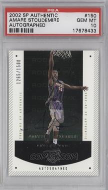2002-03 SP Authentic - [Base] #150 - Autographed Rookie F/X - Amar'e Stoudemire /1500 [PSA10]
