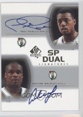 2002-03 SP Authentic SP Dual Signatures [Autographed] #PP/AW - Paul Pierce, Antoine Walker
