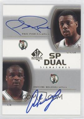 2002-03 SP Authentic SP Dual Signatures [Autographed] #PP/AW - Paul Pierce, Antoine Walker