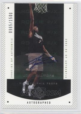 2002-03 SP Authentic #166 - John Salmons /1500
