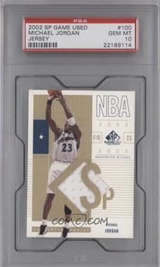 2002-03 SP Game Used Edition - [Base] #100 - Michael Jordan [PSA10]