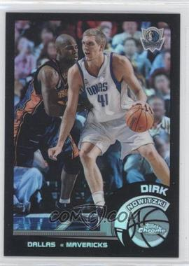 2002-03 Topps Chrome Black Border Refractor #29 - Dirk Nowitzki /99