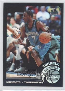 2002-03 Topps Chrome Black Border Refractor #34 - Terrell Brandon /99