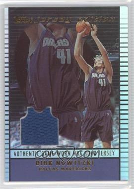 2002-03 Topps Jersey Edition #je DN - Dirk Nowitzki