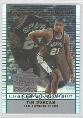 2002-03 Topps Jersey Edition #je TD - Tim Duncan