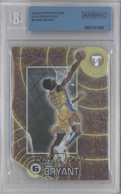 2002-03 Topps Pristine - [Base] - Gold Refractor #8 - Kobe Bryant /99 [BGSAUTHENTIC]
