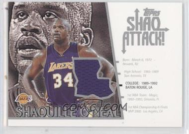 2002-03 Topps Shaq Attack! Jerseys #SA3 - Shaquille O'Neal