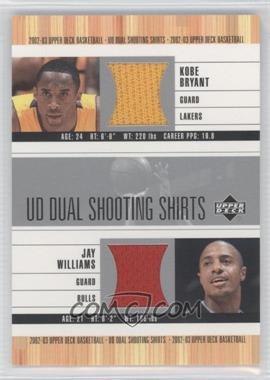 2002-03 Upper Deck - UD Dual Shooting Shirts #KB/JW-S - Kobe Bryant, Jay Williams