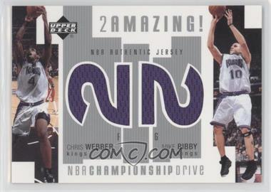 2002-03 Upper Deck Championship Drive 2 Amazing! Dual Jersey #CW/MB-J - Chris Webber, Mike Bibby
