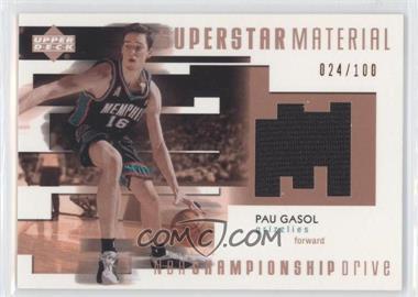 2002-03 Upper Deck Championship Drive Superstar Material Jersey #PG-M - Pau Gasol /100