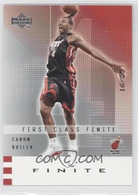 2002-03 Upper Deck Finite #191 - Caron Butler /25