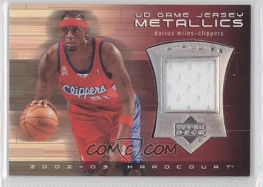 2002-03 Upper Deck Hardcourt - UD Game Jersey Metallics #DM-J - Darius Miles