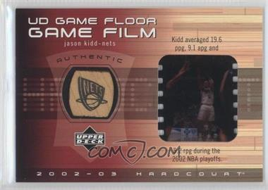 2002-03 Upper Deck Hardcourt UD Game Floor Game Film #JK-FF - Jason Kidd