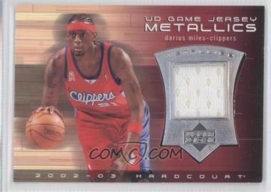 2002-03 Upper Deck Hardcourt UD Game Jersey Metallics #DM-J - Darius Miles