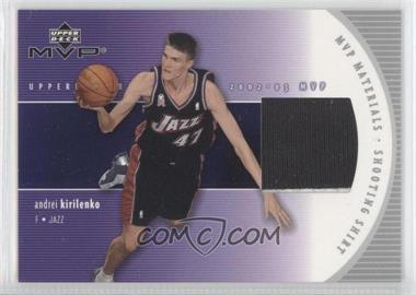 2002-03 Upper Deck MVP - MVP Materials - Shooting Shirt #AK-S - Andrei Kirilenko