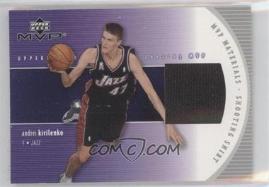 2002-03 Upper Deck MVP MVP Materials Shooting Shirt #AK-S - Andrei Kirilenko