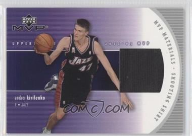 2002-03 Upper Deck MVP MVP Materials Shooting Shirt #N/A-S - Andrei Kirilenko
