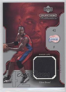 2002-03 Upper Deck Ovation - Authentics - Warm-Ups #EB-W - Elton Brand