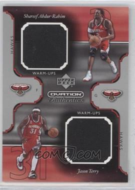 2002-03 Upper Deck Ovation Authentics Dual Warm-Ups #SA/JT - Shareef Abdur-Rahim, Jason Terry