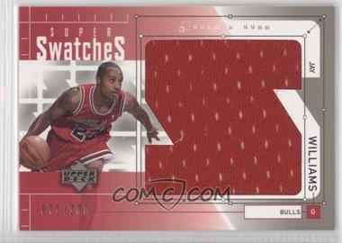 2002-03 Upper Deck Super Swatches #JW-S - Jay Williams /200