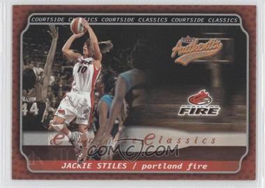 2002 Fleer Authentix WNBA Courtside Classics #1 CC - Jackie Stiles