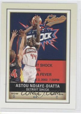 2002 Fleer Authentix WNBA #51 - Astou Ndiaye-Diatta