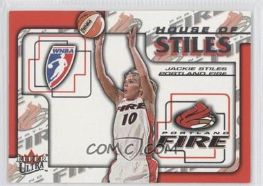 2002 Fleer Ultra WNBA - House Of Stiles #4HS - Jackie Stiles