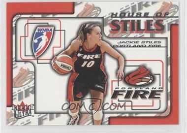 2002 Fleer Ultra WNBA House Of Stiles #1HS - Jackie Stiles