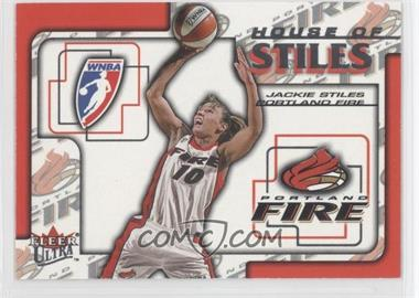 2002 Fleer Ultra WNBA House Of Stiles #3HS - Jackie Stiles