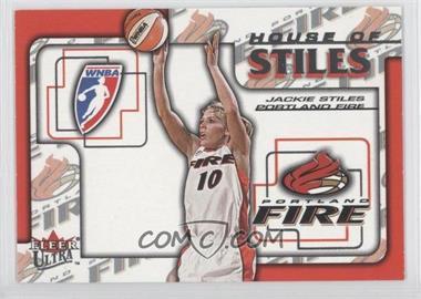 2002 Fleer Ultra WNBA House Of Stiles #4HS - Jackie Stiles