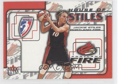 2002 Fleer Ultra WNBA House Of Stiles #5HS - Jackie Stiles