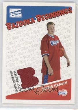 2003-04 Bazooka - Bazooka Beginnings Memorabilia #BBE-CK - Chris Kaman